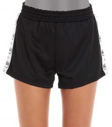 Chiara Ferragni Black Logomania Sports Shorts