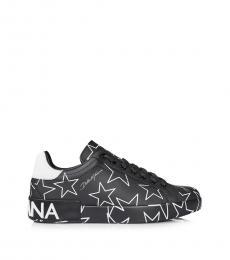 Black Stars Printed Sneakers