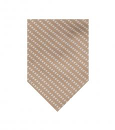 Calvin Klein Taupe Stitch Stripe Tie