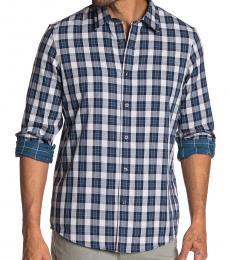 Michael Kors Midnight Curt Check Classic Fit Shirt