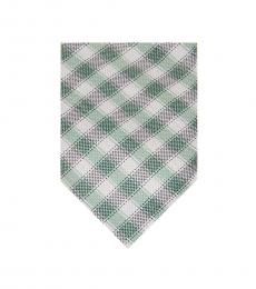 Michael Kors Green Two-Tone Gingham Tie