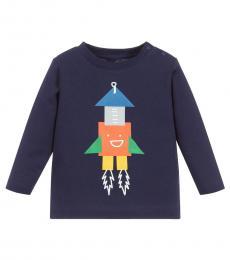 Stella McCartney Baby Boys Navy Rocket T-Shirt