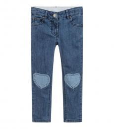 Girls Blue Slim Fit Jeans