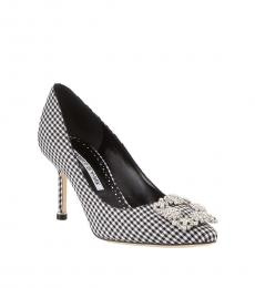 Black White Gingham Hangisi Heels