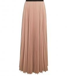 BCBGMaxazria Light Pink Dallin Pleated Maxi Skirt