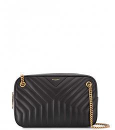 Saint Laurent Black Joan Medium Shoulder Bag