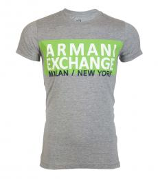Grey Slim Fit Logo T-Shirt