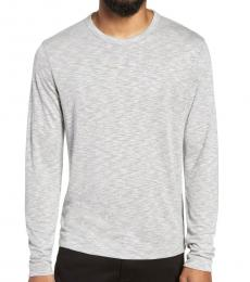 Light Grey Slim Fit Long Sleeve T-Shirt