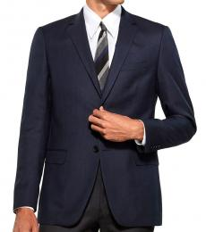 Theory Navy Blue Wool Suit Jacket
