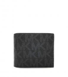 Michael Kors Black Logo Passcase ID Billfold Wallet