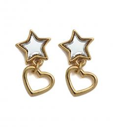 Marc Jacobs Gold Star and Heat Drop Earrings