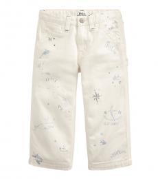 Ralph Lauren Little Girls Hardy Wash Nautical Wide-Leg Jeans
