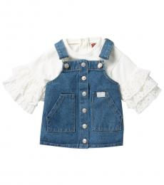 7 For All Mankind 2 Piece Dress/Top Set (Baby Girls)