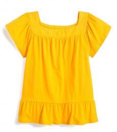 J.Crew Little Girls Sweet Marigold Peplum Top