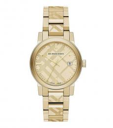 Burberry Gold Ion-Plated Bracelet Watch
