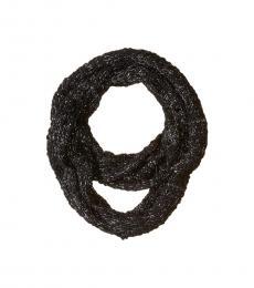 Calvin Klein Black Boucle Lurex Loop Scarf