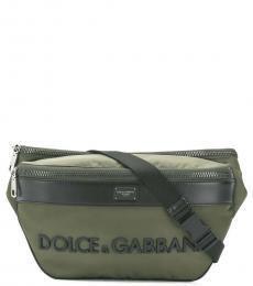Dolce & Gabbana Green Logo Belt Bag