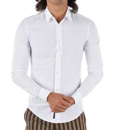 Armani Jeans White Slim Fit Shirt