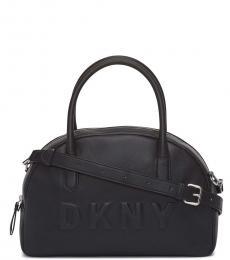 DKNY Black Tilly Dome Large Satchel