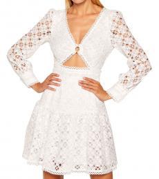 Michael Kors White Medallion Lace Cutout Dress