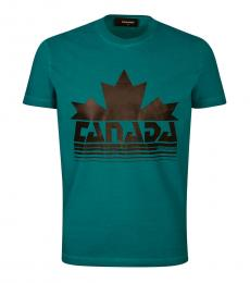 Dsquared2 Teal Graphic Print T-Shirt