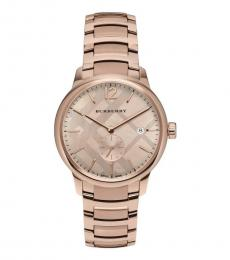 Burberry Rose Gold Classic Round Watch