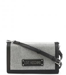 Love Moschino Black Flap Medium Crossbody