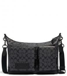 Coach Charcoal Black Ranger Pocket Large Messenger Bag