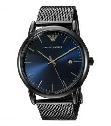 Emporio Armani Metal Blue Dial Mesh Watch