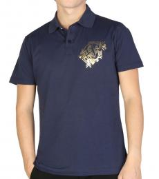 Versace Jeans Dark Blue Front Logo Polo