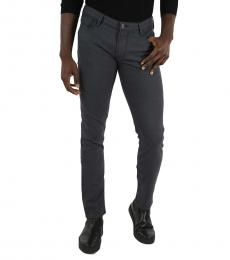 Armani Jeans Dark Grey Slim Fit Pants
