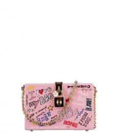 Dolce & Gabbana Pink Love Family Graffiti Clutch