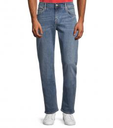 7 For All Mankind Blue Straight Jeans