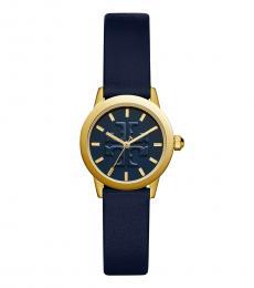 Tory Burch Navy Gold Gigi Logo Watch