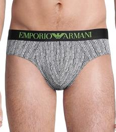 Emporio Armani White 2-Pack Logo Hip Briefs