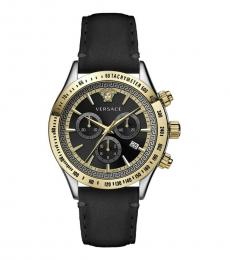Versace Black Gold Chrono Watch