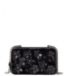 Kate Spade Black Faux Fur Mini Shoulder Bag