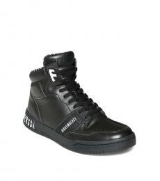 Bikkembergs Black Sigger Hi Top Sneakers