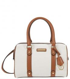 Calvin Klein Off White Winona Medium Duffle Bag