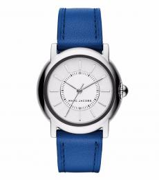 Marc Jacobs Blue Courtney White Dial Watch