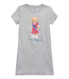 Ralph Lauren Girls Andover Polo Bear Dress