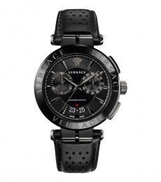 Versace Black Aion Logo Watch