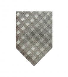 DKNY Beige Shadow Grid Tie
