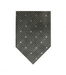 Tom Ford Dark Grey Polka Dot Tie