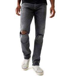 True Religion Black Geno Slim Jeans
