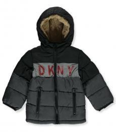 DKNY Baby Boys Charcoal/Black Chest Logo Jacket