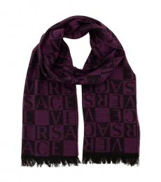 Versace Purple Signature Pattern Scarf