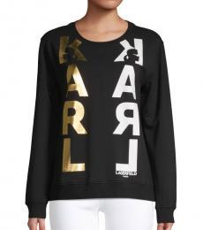 Karl Lagerfeld Black Logo Graphic Sweatshirt