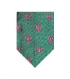 Ralph Lauren Green-Pink Modish Tie