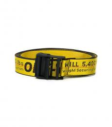 Off-White Yellow-Black Classic Industrial Belt